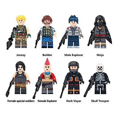 Ginkago Tiny Action Figure Fans Crew Game Themed Small Action Figures 8pc, 4.5cm: Toys & Games