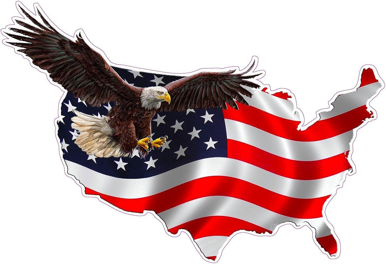 "American Eagle /'MERICA 12/"" Vinyl Decal USA Proud Window Sticker Graphics"