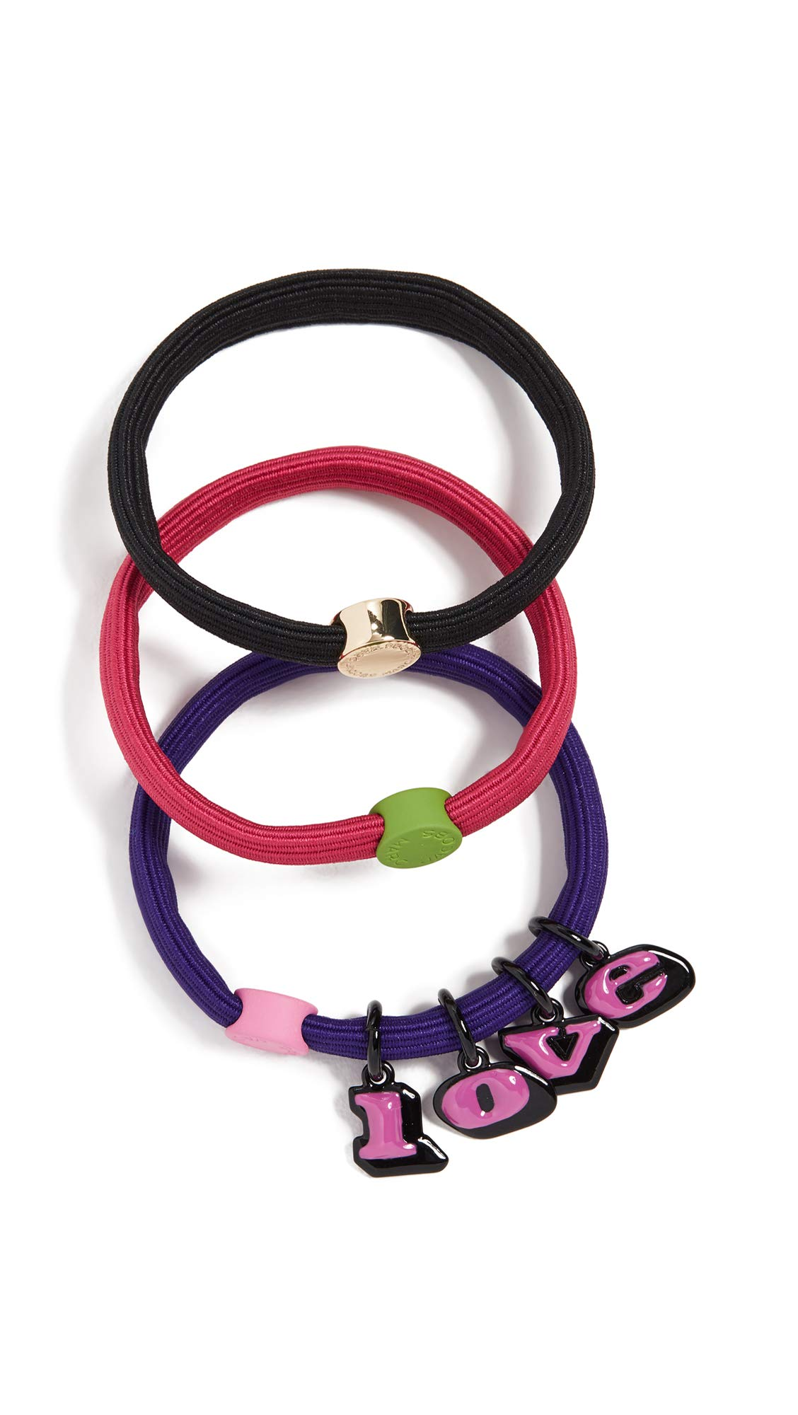 Marc Jacobs Women's The Love Hair Elastics, Purple Multi, One Size