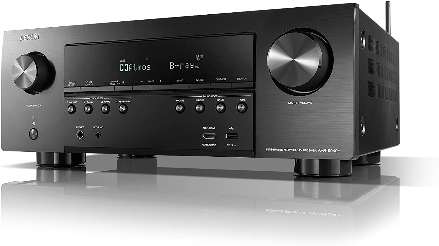 Denon AVR-S940H Receiver For Outdoor Speakers