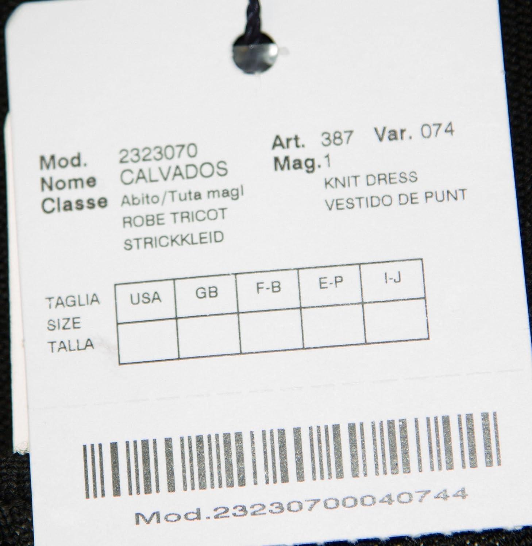 Marina Rinaldi by MaxMara Calvados Black Pleated Knit Dress M at Amazon Womens Clothing store: