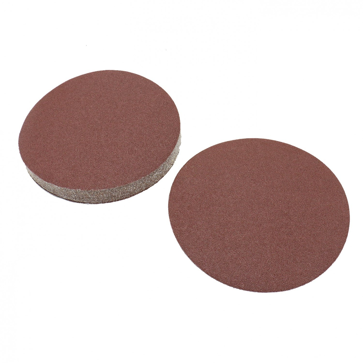 Buorsa 20 Pcs 7 Inch Heavy Duty Adhesive Sticky Back Tabbed Sanding Discs Dremel Sanding Discs Pad Kit For Cleaning and Polishing