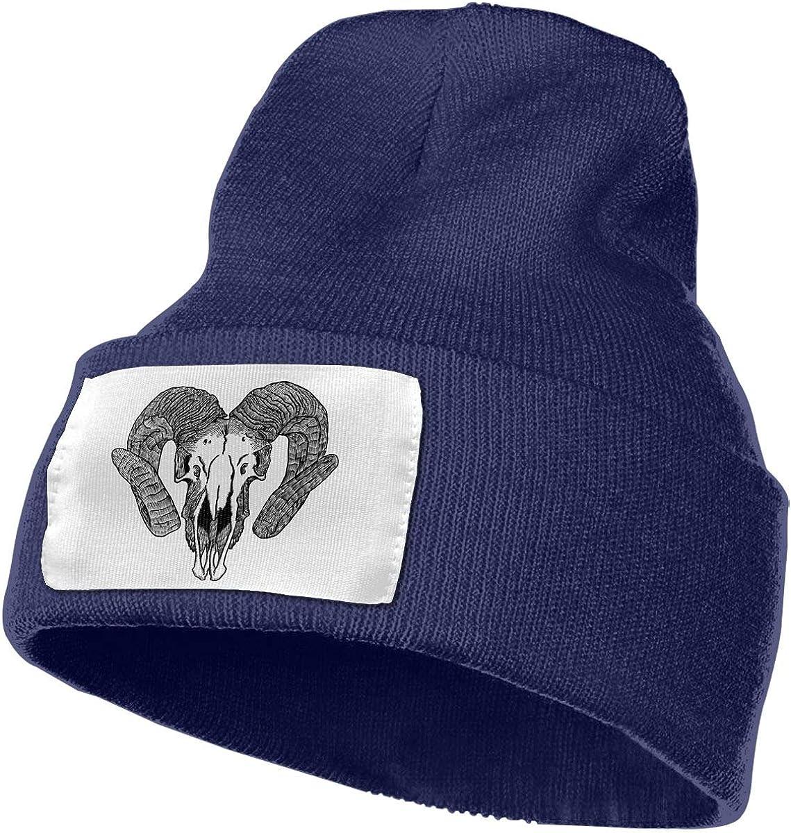 Adults Goat Skull Elastic Knitted Beanie Cap Winter Warm Skull Hats