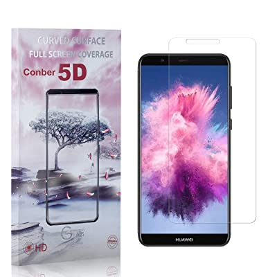 Conber (4 Pack) Screen Protector for Huawei Enjoy 7S, [Anti-Shatter][Scratch-Resistant][Case Friendly] Premium Tempered Glass Screen Protector for Huawei Enjoy 7S: Baby