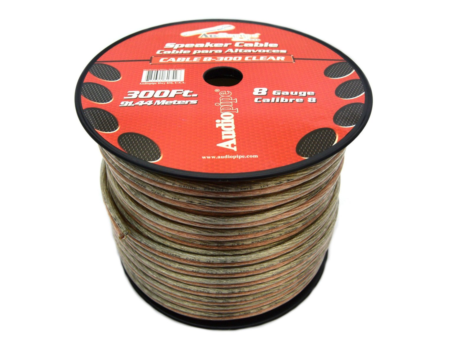 300 FT 8 GA SUB WOOFER SPEAKER WIRE STRANDED COPPER MIX ZIP HOOK UP CABLE