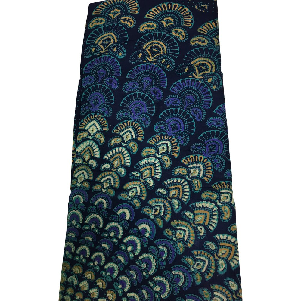India Navy Blue Handloomed Cotton Mandala Peacock Bedspread Blanket Throw Tapestry 110''x 110'' (King Size) by Rajasthan Cottage (Image #8)