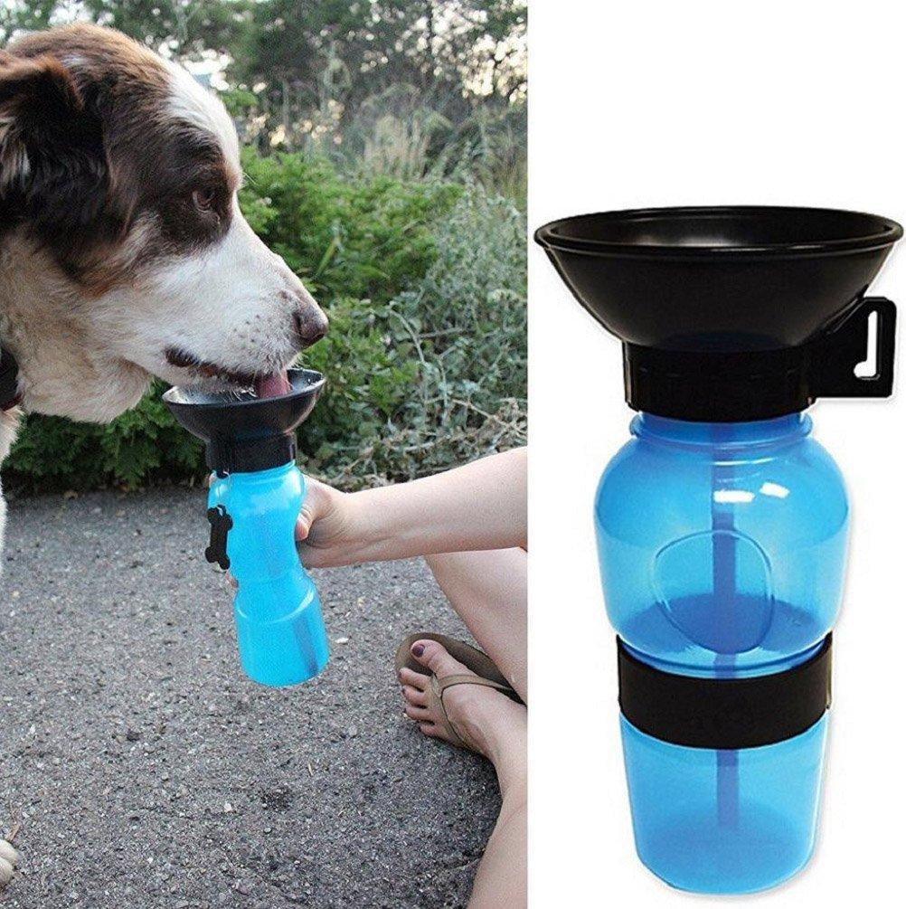 Tuopuda Botellas de Agua Para Perros Portatil Dispensador de Agua Para Mascotas Bebedero Botella Perro Para Viaje
