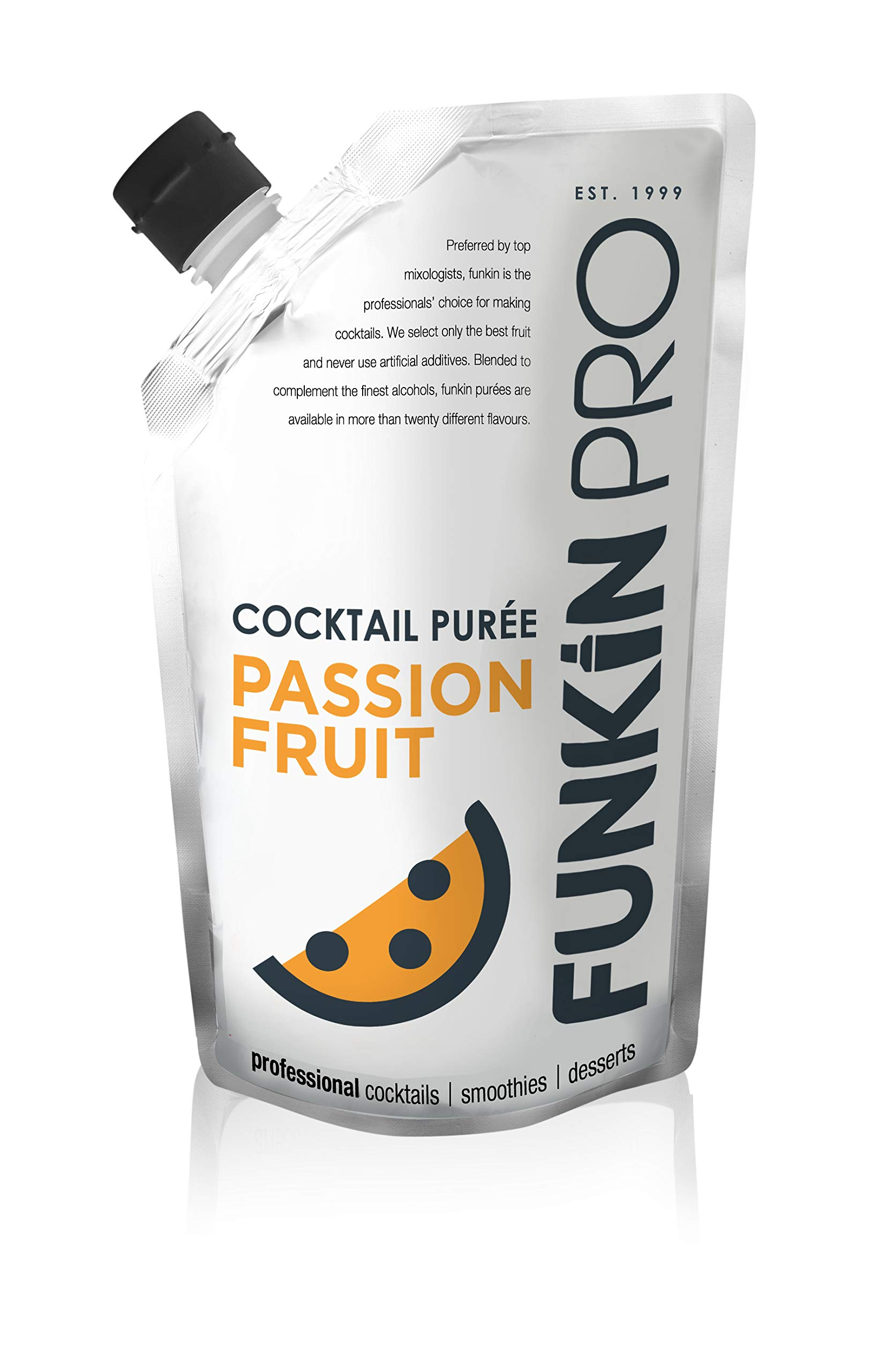 Funkin Passion Fruit Puree | Real Fruit, Two Ingredient, Natural Mixer for Cocktails, Drinks, Smoothies | Vegan, Non-GMO, Gluten-Free (2.2 lbs) by Funkin