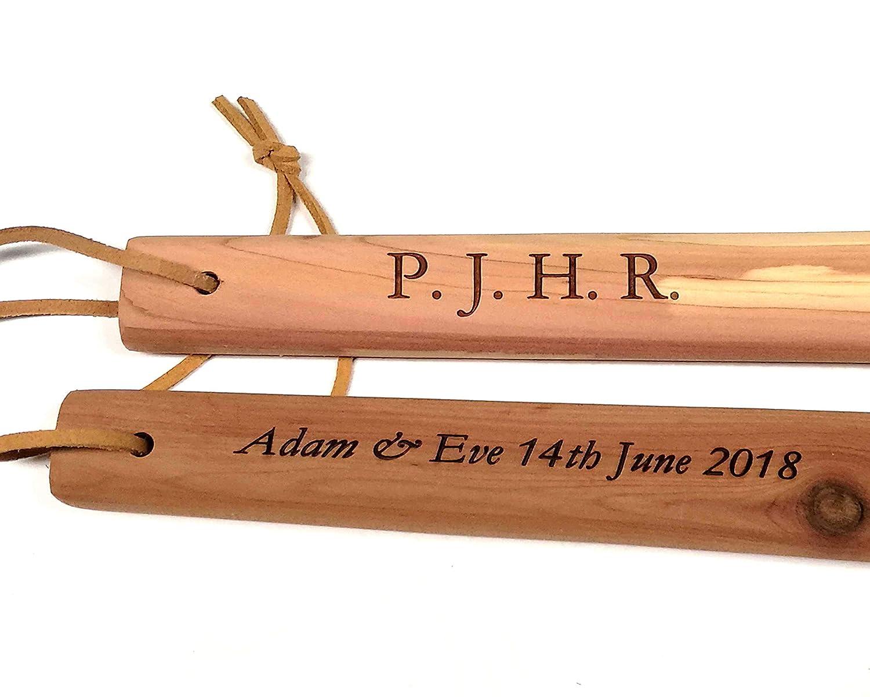 PERSONALISED Cathcart Elliot Extra Long Cedar Wood Shoe Horn 60cm