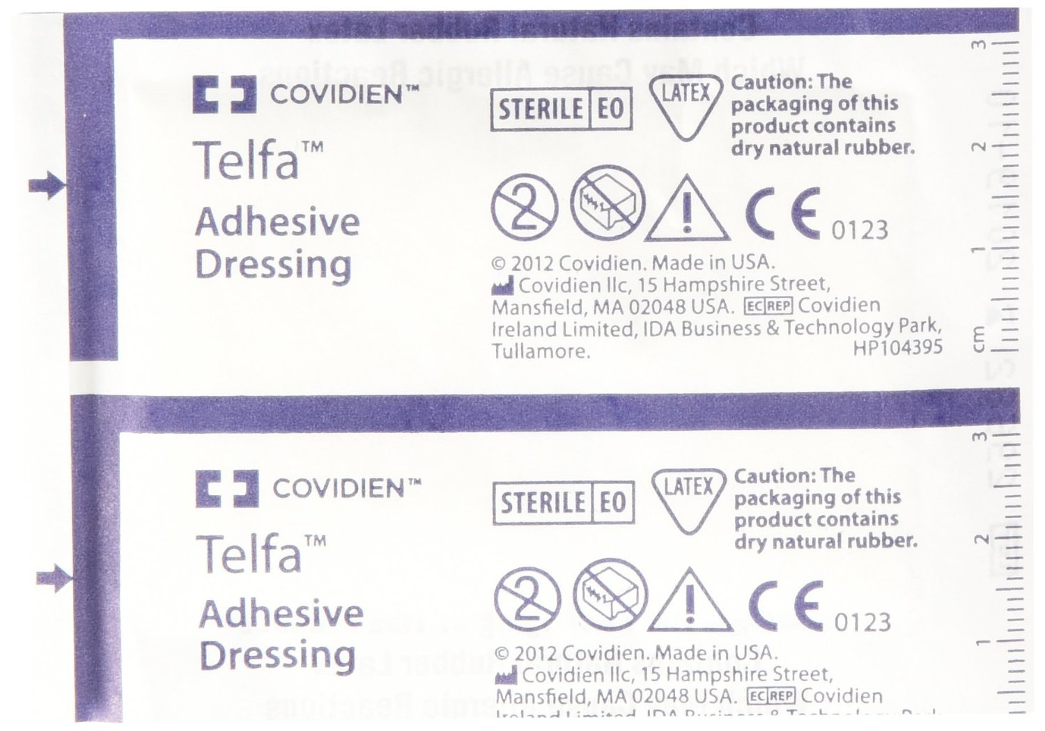 MCK60172000 - Adhesive Dressing Telfa 2 X 3 Inch 100% Cotton Rectangle Clear Sterile