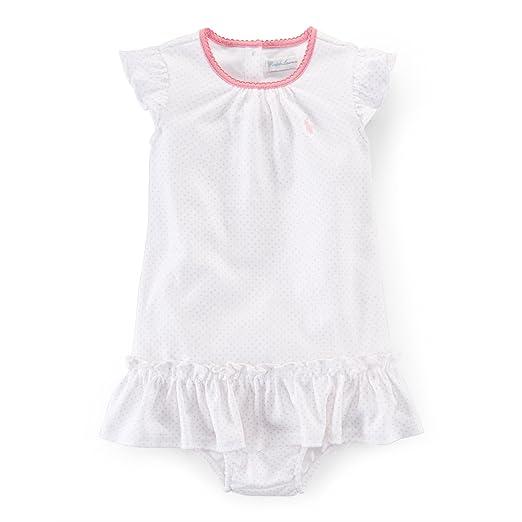 62585d9b Amazon.com: RALPH LAUREN Baby Girls Pin Dot Cotton Dress ...