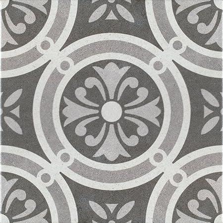 Patterned Porcelain Floor Tile Vintage Classic 1 Square Metre Of