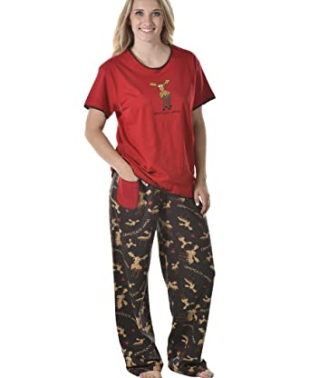 Chocolate Moose Women s Sleepwear Pajama Set by LazyOne  b4b40a6a0