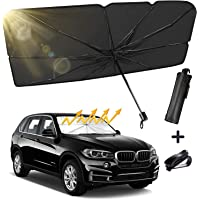 Truck SUV Car Windshield Sun Shade, Foldable Car Sunshade Umbrella for Car Front Window/Auto Windshield Covers Keeps…