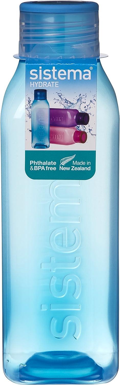Sistema – Botella Cuadrada Retro, Color Colores Variados, tamaño 725 ml