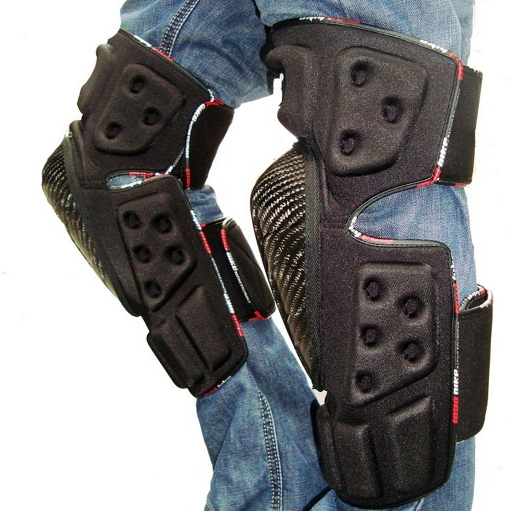 TLMYDD Anti-Fall Knee Pads Leg Protectors Professional Motorcycle Racing Off-Road Vehicle Safety Kneepad by TLMYDD (Image #5)