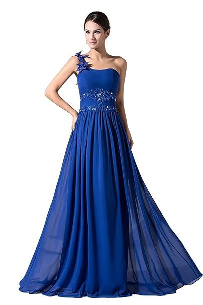 Dressy Star largo Royal Azul One de schoulter Fiesta Vestido azul real (56W) EU