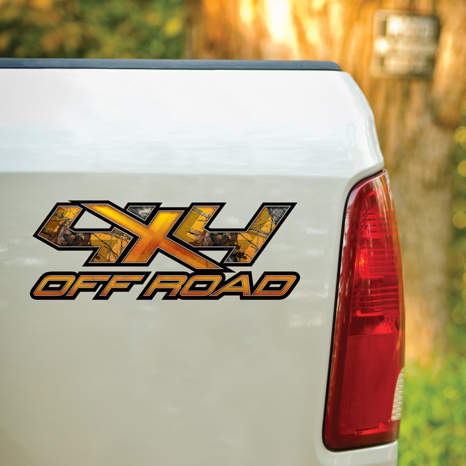 Mossy Oak Graphics 13036-BZ-L 17 x 6.5 Blaze 4X4 Orange X Style Decal