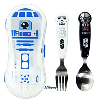 amazon com star wars kids spoon fork r2d2 case set baby