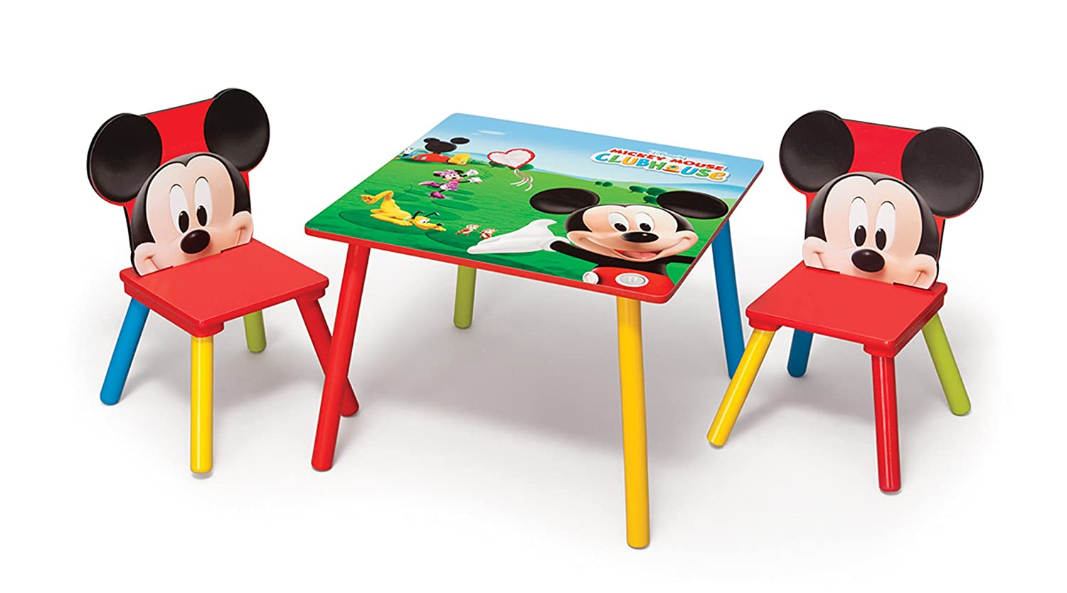 Delta Enterprises Disney - Mickey - Mesa + 2 Sillas: Amazon.es: Hogar