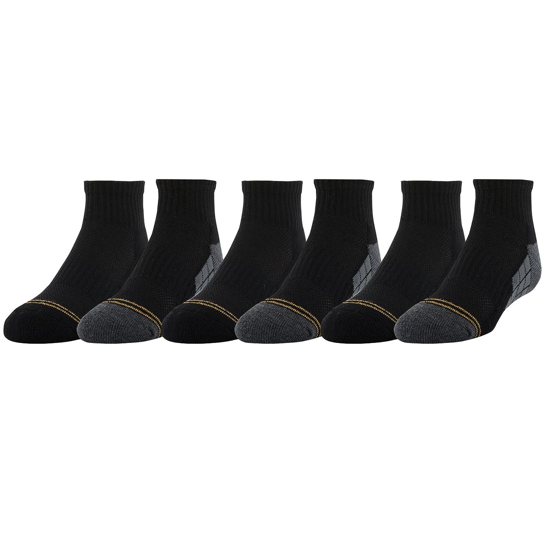 Gold Toe Boys Ultra Tec Athletic Quarter Socks 6-Pair Gold Toe Boys 8-20 GT131