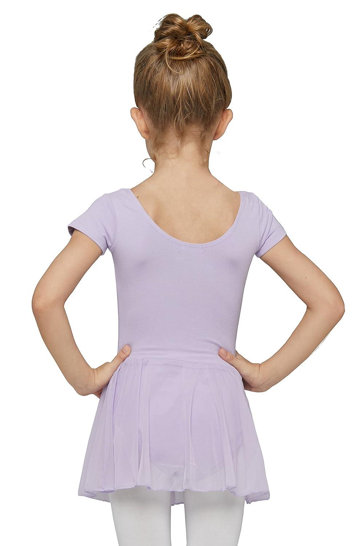 Girls Classic Short Sleeve Leotard Dress