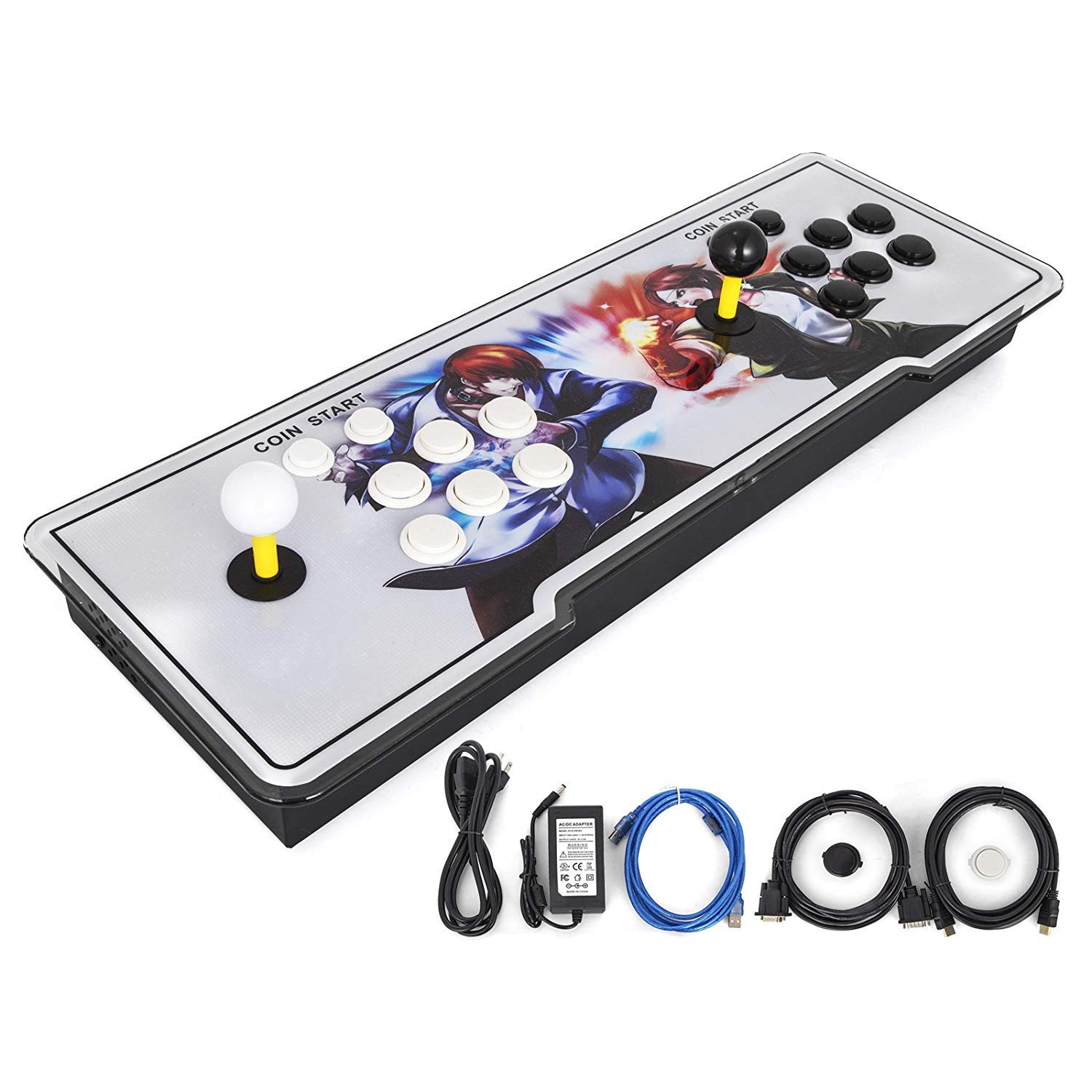 Happybuy Pandora Box 2222 in 1 Arcade Console 9S+ Pandoras Box 2 Players Retro Arcade Station x Full HD Video Game Console with Arcade Joystick Support HDMI VGA USB by Happybuy (Image #8)