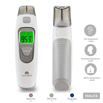 DoctorMOM Baby TherMOMeter for Fever Digital Medical Infrared Forehead and Ear for Infants, Toddlers,