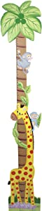 Fantasy Fields - Sunny Safari Animals Thematic Kids Durable Wooden Growth Chart -Imagination Inspiring Hand Painted Details - Non-Toxic, Lead Free Water-based Paint - Giraffe/ Blue