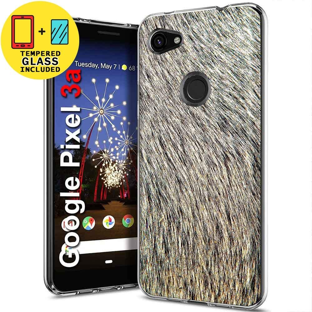 TalkingCase Clear TPU Phone Case for Google Pixel 3,G013A,Dairy Cow Fur Print,Light Weight,Flexible,Anti-Scratch,Tempered Glass Screen Protector Included,Designed in USA