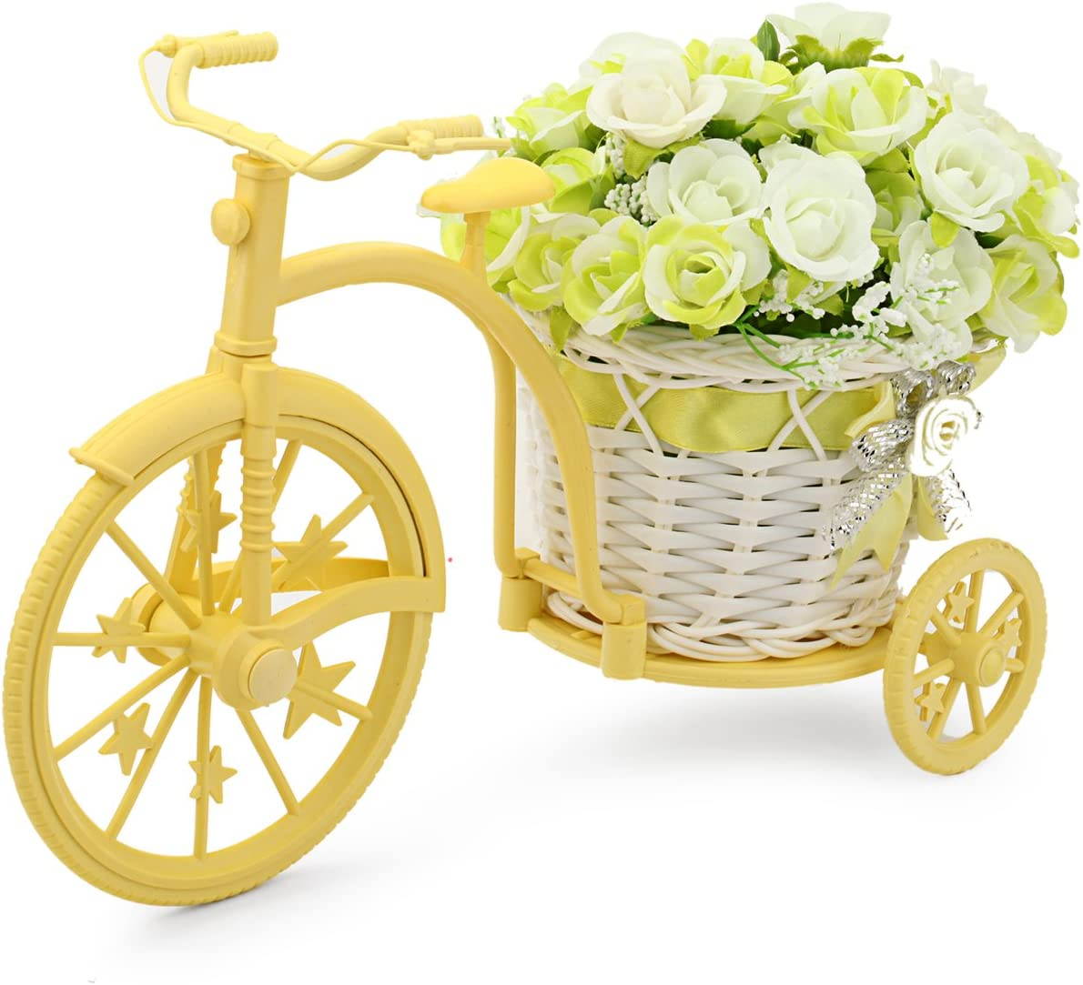 Louis Garden Nostalgic Bicycle Artificial Flower Decor Plant Stand (Green)