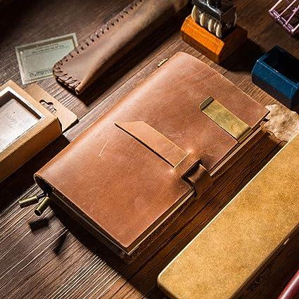 VQEWZ Cuaderno Planificador Del Manual De Manualidades Piel ...