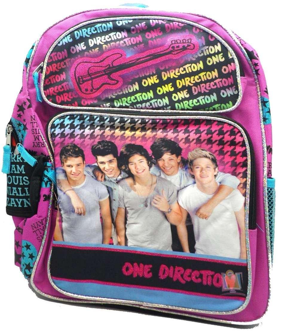 Backpack - One Direction - Pink Guitar New (Large School Bag) Girls Book 080086   B00EPQV19O