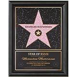 Goods & Gadgets GmbH Persönlicher Hollywood Stern Walk of Fame Stil - Star of Fame Urkunde mit Name und Holzrahmen 46 x 36cm