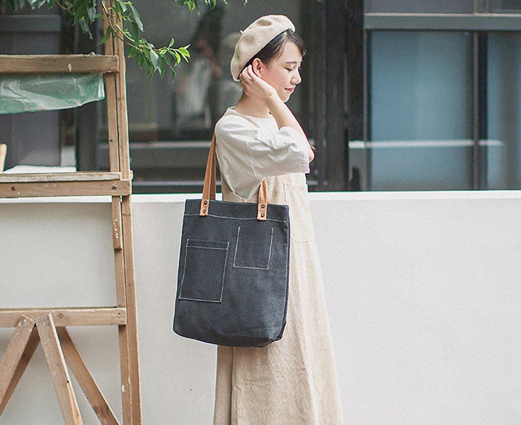 Bageek Canvas Tote Bag Handbags for Womens Bag Canvas Purses and Handbags by Bageek (Image #8)