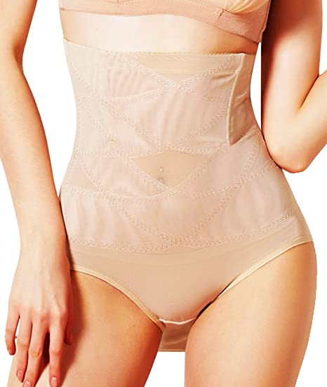 de5836a1c2 Junlan Womens Shapewear Panties High Waist Brief Tummy Control Butt Lifter  Panty Shaper Beige