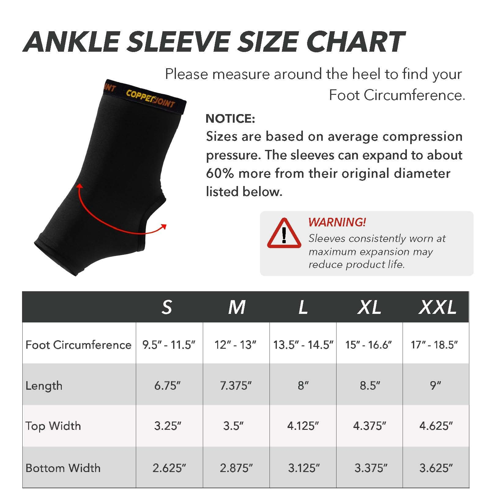 CopperJoint Copper-Infused Compression Ankle Sleeve, High-Performance, Breathable Design Provides Comfortable and Durable Joint Support for All Lifestyles, Single Sleeve (Medium) by CopperJoint (Image #4)