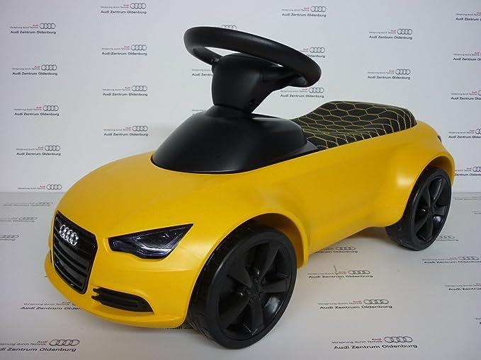 Audi Bobby-Car mit lIcht - Audi Junior quattro Vegasgelb mit LED Licht