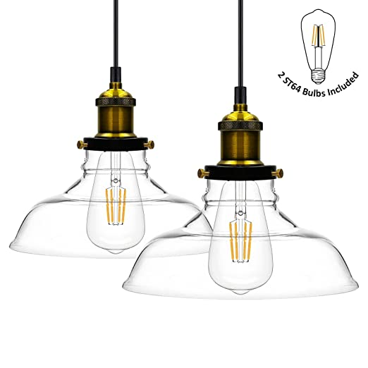 Haodude glass pendant light vintage industrial hanging light loft haodude glass pendant light vintage industrial hanging light loft style chandelier glass lamp mozeypictures Gallery