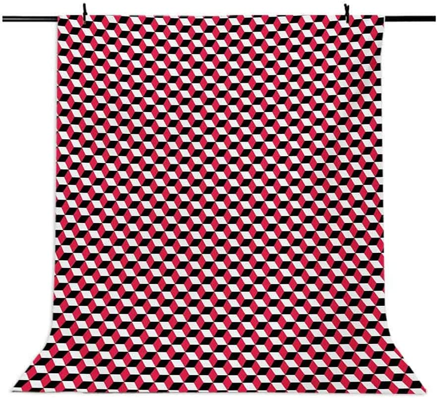 Abstract 10x12 FT Photo Backdrops,Cubes Three Dimensional Style Optical Illusion Pattern Diagonal Shapes Background for Kid Baby Boy Girl Artistic Portrait Photo Shoot Studio Props Video Drape Vinyl
