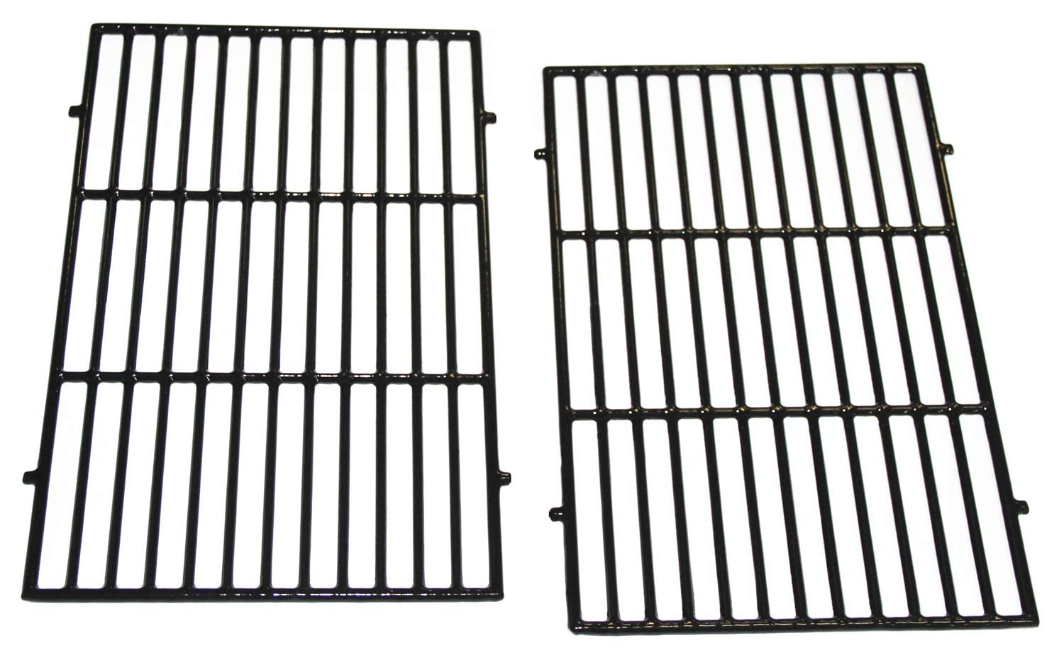 "VICOOL hy7638 Porcelain Coated Cast Iron Grill Grates for Weber Spirit 300 Series, Spirit 700, Genesis Silver B/C, Genesis Gold B/C, Genesis 1000-5000, 7638 7639 7525 7526 7527(17.5"" x 11.9"" x 0.5"")"