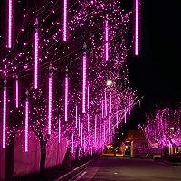 EEIEER Meteoros Lluvia Luces LED, 30cm 8 Tubos