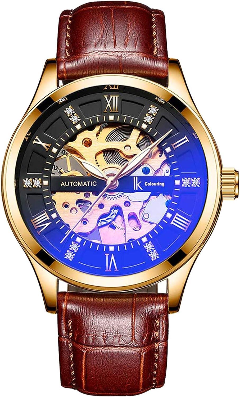 IK Men Automatic Watch, Men s Business Analog Auto Self Wind Mechanical Steampunk Watch