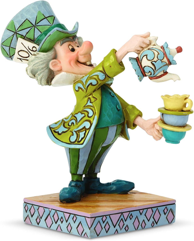 Enesco Disney Traditions by Jim Shore Alice in Wonderland Mad Hatter Figurine, 4.92 Inch, Multicolor
