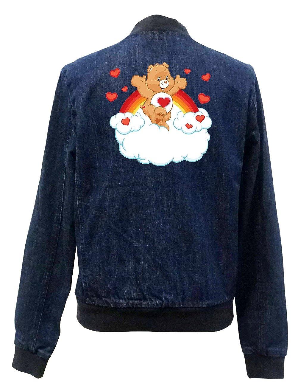 Certified Freak Heart Bear Bomber Chaqueta Jeans: Amazon.es: Ropa ...
