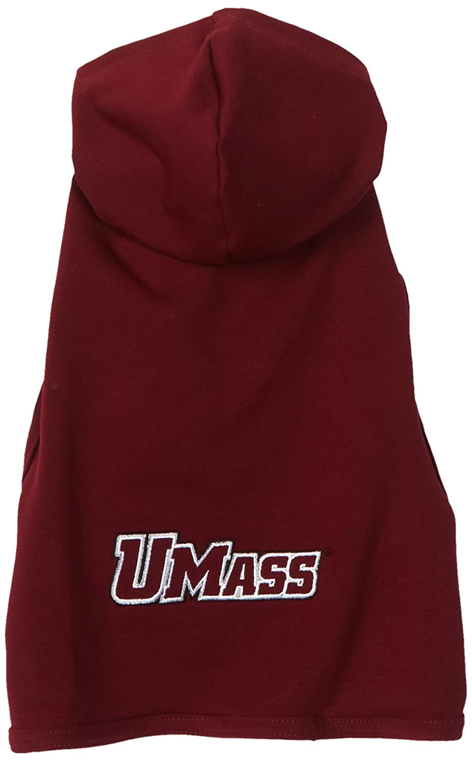 X-Large NCAA Massachusetts Minutemen Cotton Lycra Hooded Dog Shirt