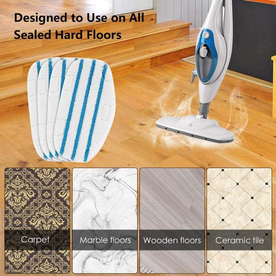 Aiversal Steam Mop Microfiber Cover Head Replacement Pad Floor Cleaning Cloth Steam Mops