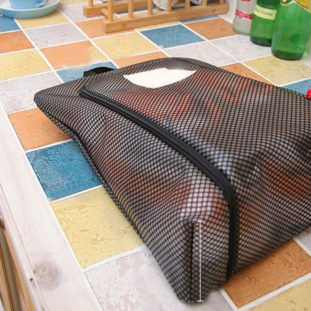 dragonaur viaggio impermeabile traslucido chiusura zip scarpe Storage Bag organizer Container Blue large