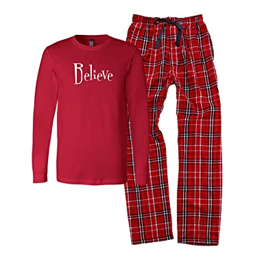 4689f0f466 Cotton Sisters Believe Christmas Pajamas - Child and Adult (Adult 2XL)