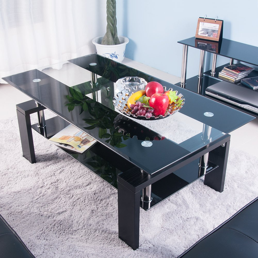 Btm New Tempered Glass Coffee Table Style Furniture Modern Tabletops And Ebay